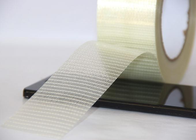 Transparent Film Fiberglass Filament Mesh Tape High Adhesion Electrical Insulation