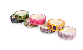Solid Color Washi Paper Tape Rubber Adhesive Easily Peels Off Fit Decoration