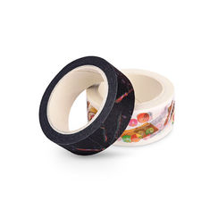 Black Slim Washi Paper Tape Water - Based Acrylic Adhesive Furniture Decoration