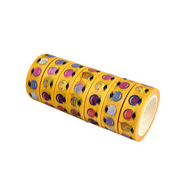 Food Pattern Washi Paper Tape , Yellow Washi Tape Assortment DIY Masking