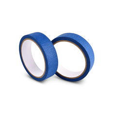 Blue Colored Masking Tape , Single Sided Masking Tape For Painting / Spaying