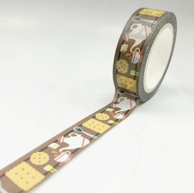 Printed Super Skinny Washi Paper Masking Tape For Gift Package / Decorative