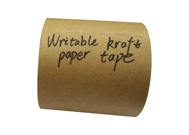 Brown Reinforced Gummed Kraft Paper Tape Handwriting Fiber Jumbo Rolls Waterproof