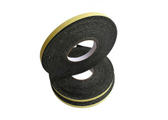 Yellow Paper Black EVA Foam Tape For Fixing Emblems And Nameplates