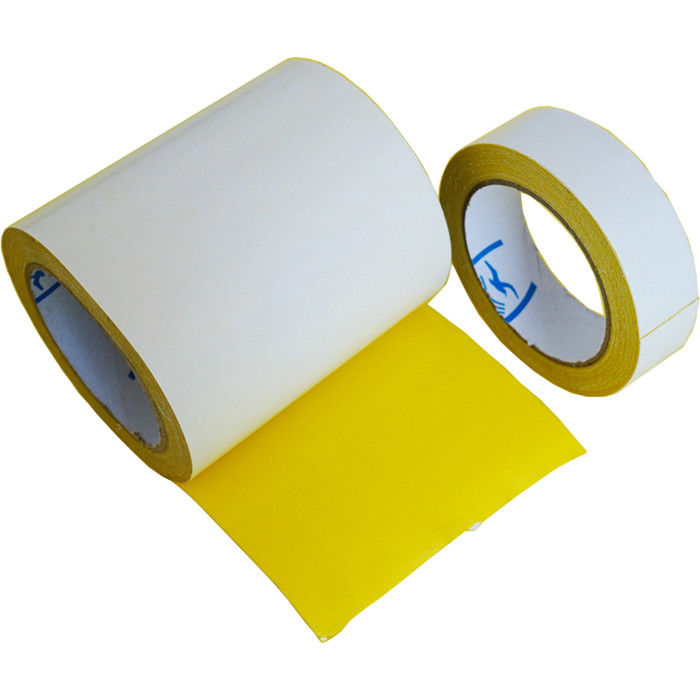 Strong Waterproof Double Sided Cloth Carpet Tape Yellow Suit Fixation / Splicing