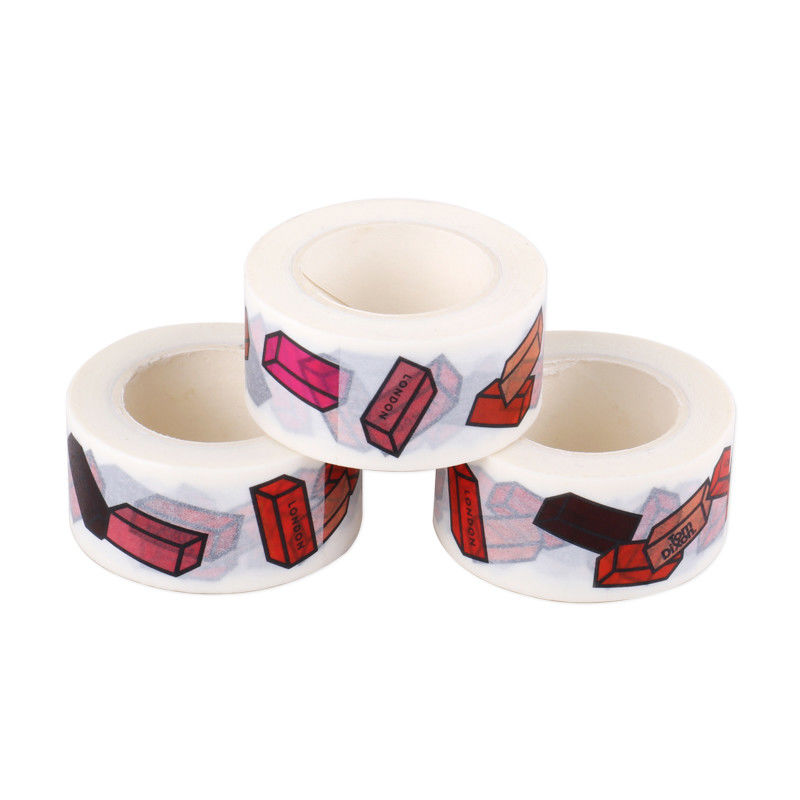 2 Inch Thin Decorative Washi Tape Rubber Adhesive Residue Free Gift Wrapping
