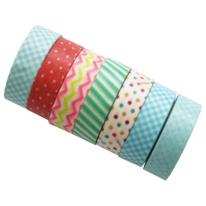 Writable Beautiful Washi Paper Tape , Patterned Paper Masking Tape For Craft Deco