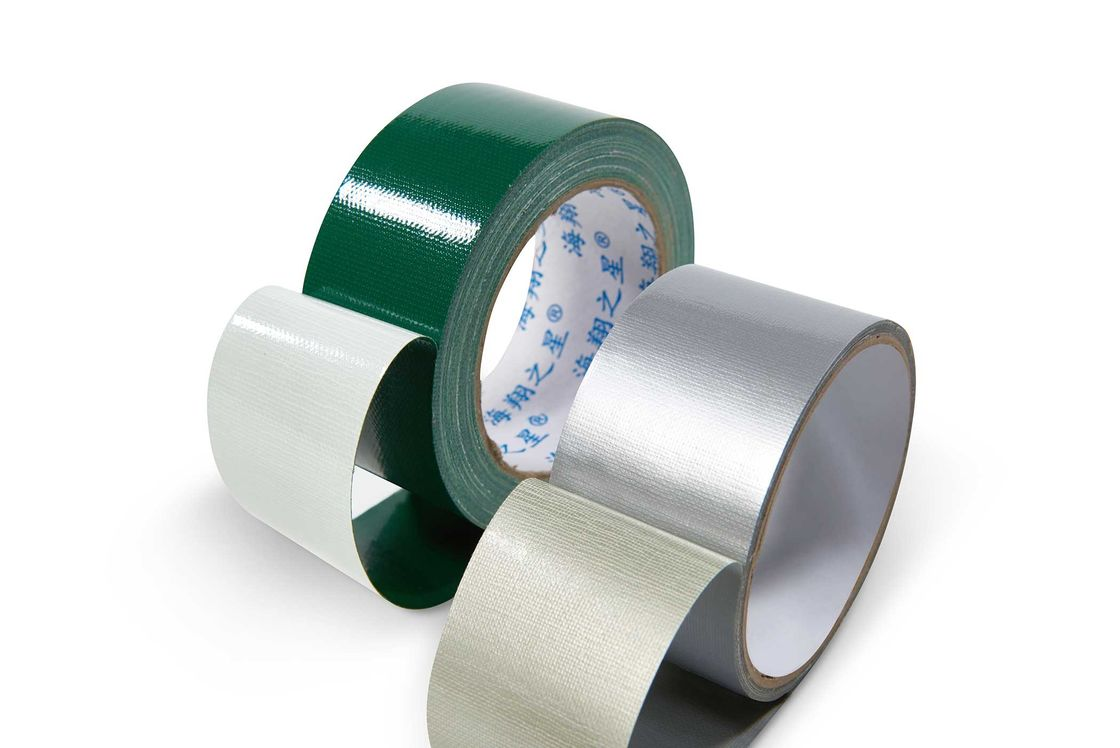 hot melt glue Cloth Duct Tape Single Sided 250mic Thick 12Colors For Book Binding