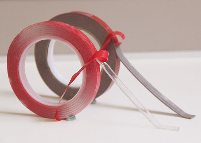 Waterproof Double Sided Acrylic Foam Tape 1mm Thick Red Film
