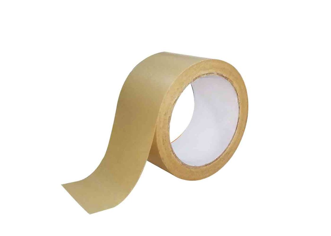 50m Self Adhesive Kraft Paper Tape For Shipping , Moving , Bundling , Storage