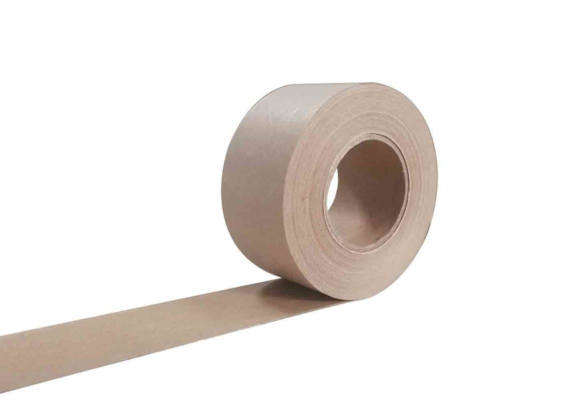 Water Activated Fiberglass Reinforced Gummed Kraft Paper Tape 48mm Width