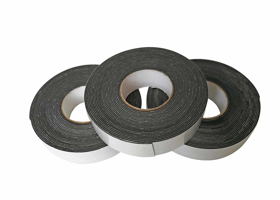 1 / 2 / 3mm Black EVA Foam Tape / Single Sided Self Adhesive Sponge Tape For Door Strip Seal