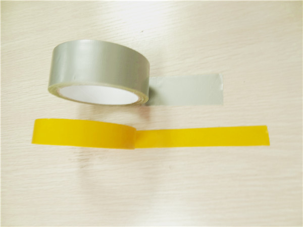 Single Sided Cloth Duct Tape , Hot Melt Gray Thin Duct Tape Pipe Wrapping