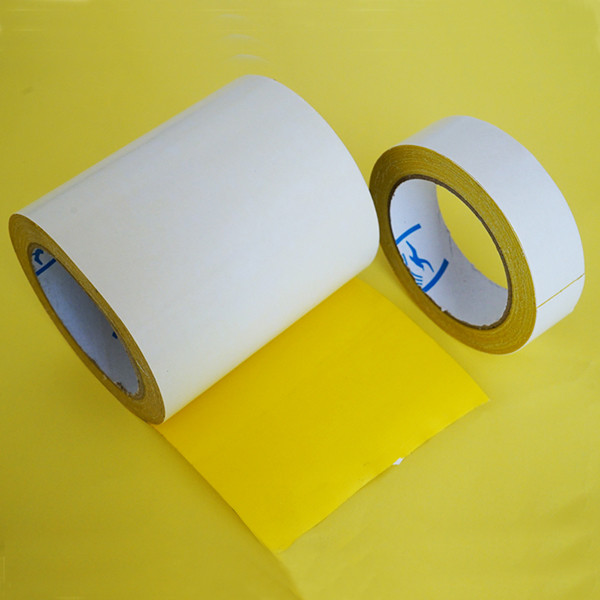 High Tack  Double Sided Carpet Tape , Gauze Carpet Binding Tape Rubber Based