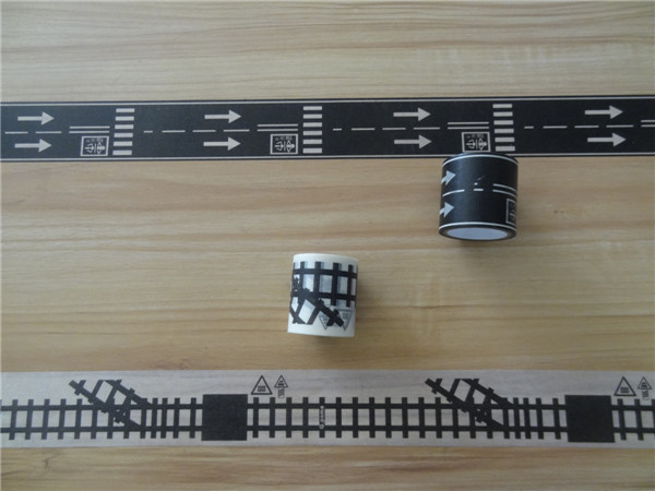 Single Sided Washi Paper Tape Easy Remove , Play Tape Road For Children Game