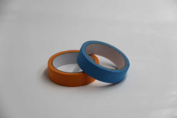 Crepe Paper Coloured Adhesive Tape No Residue Solvent Resistant Automotive Painting